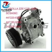 Factory Direct Sale Auto Air Conditioning Aircon Compressor For Toyota Corolla 01 12 ZZE122R SCSA06C 447220