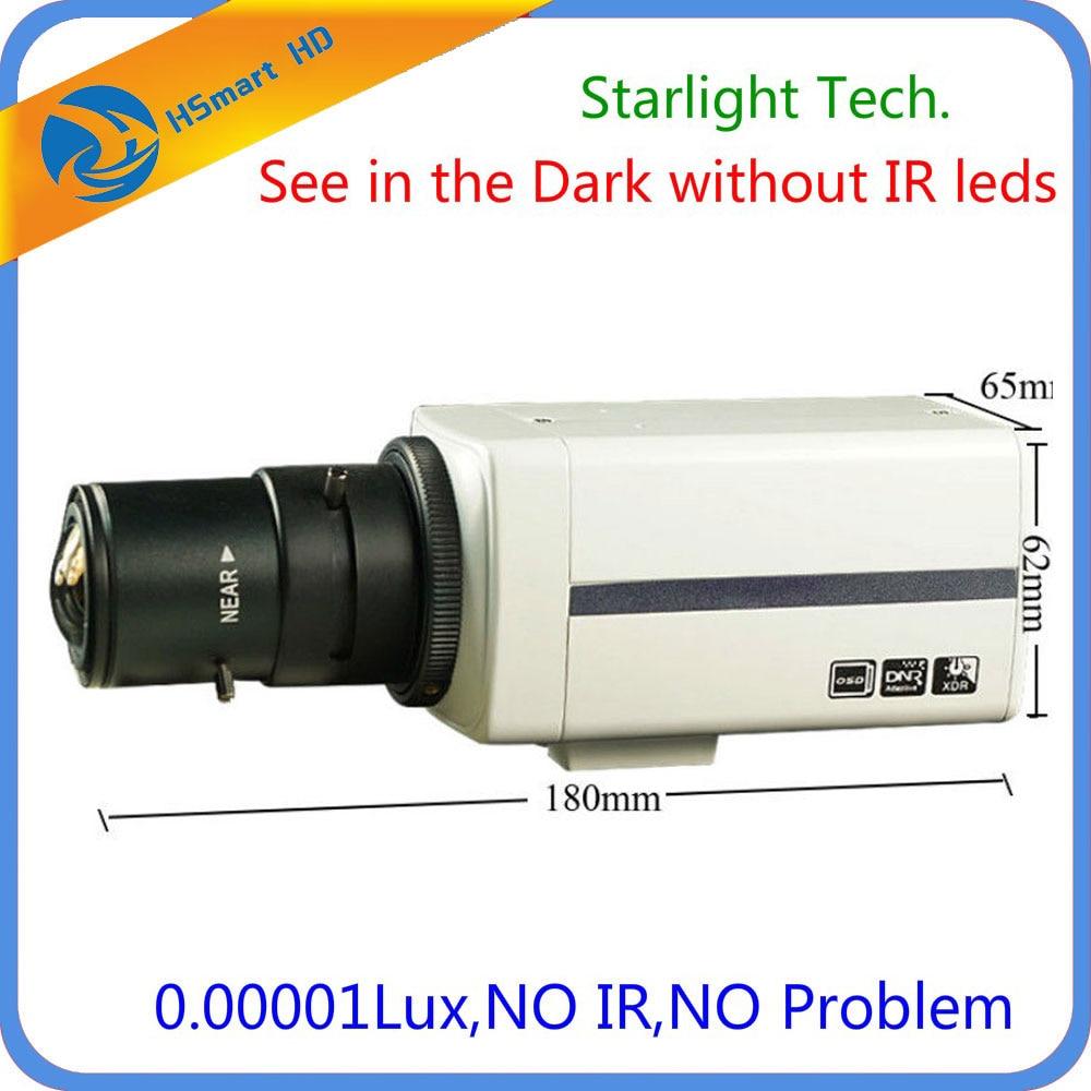 Sony Super HAD CCD 700TVL 6-22mm DSP EFFIO-E Super faible lumière Starlight Boîte Caméra avec 2.8- 12mm CS Objectif 0.00001 lux