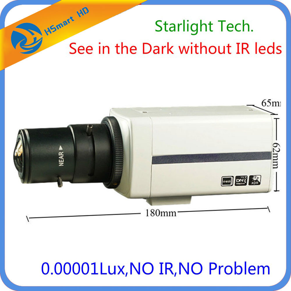 Sony Super HAD CCD 700TVL 9-22mm DSP EFFIO-E Super low light Starlight Box Camera with 2.8-12mm CS Lens 0.00001 lux