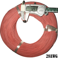 500meters 28 AWG Flexible Silicone Wire RC Cable OD 1.2mm Line 28AWG 0.08 Square Silicone Wire Ultra Flexiable