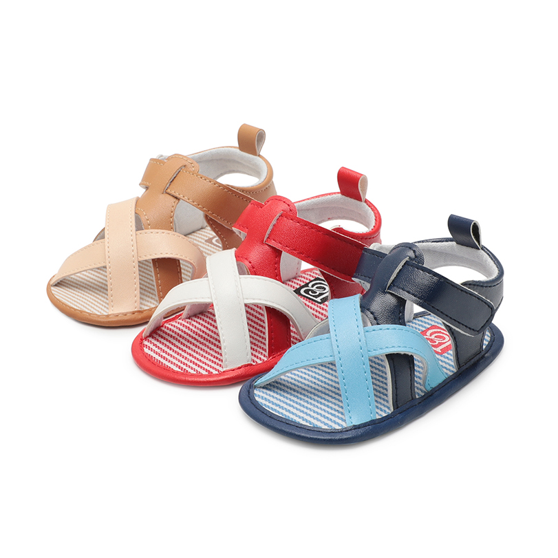 Baby boy girl shoes sandals newborn 0-18 months PU leather mixed color Summer shoes bebe sandal for toddler infant Skid-Proof