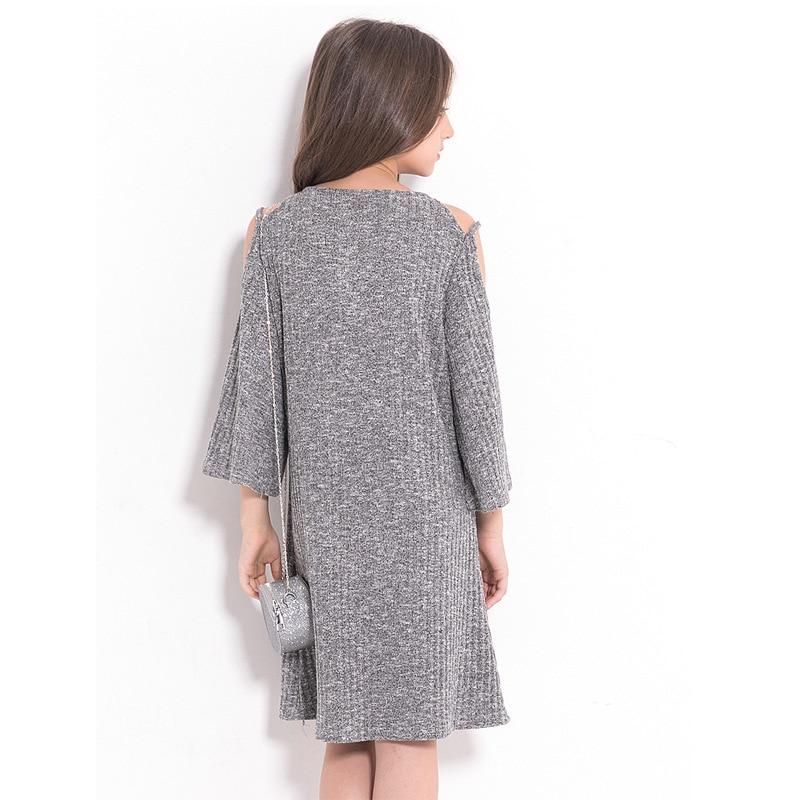 5c38367a3c61 RURMERACY Summer Teen Girls Dress Fashion Strapless Gray Children Dress for Teenage  girl Kids Dress Big Girls clothing 120cm-160cm 1 2 3 4 5 6