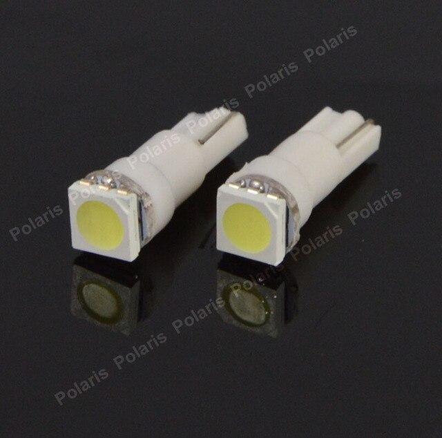 50 pcs offre spéciale T5 voiture Auto jauge 5050 1 SMD indicateur LED Speedo tableau de bord ampoule latérale 12 V