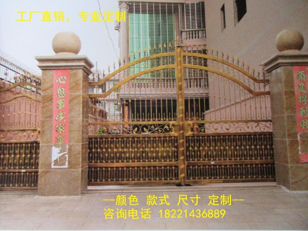 Custom Made Wrought Iron Gates Designs Whole Sale Wrought Iron Gates Metal Gates Steel Gates Hc-g45