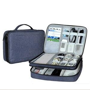 Водонепроницаемый органайзер для гаджетов, цифровая сумка для хранения для iPad mini 4 air 2 pro, зарядные устройства для планшетов, кабели, защитны...
