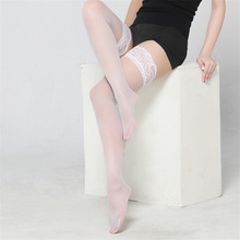 ec807936302 Thigh High Stocking Women Summer Over The knee Socks Sexy girl Femme Hosiery  Nylon Lace Style