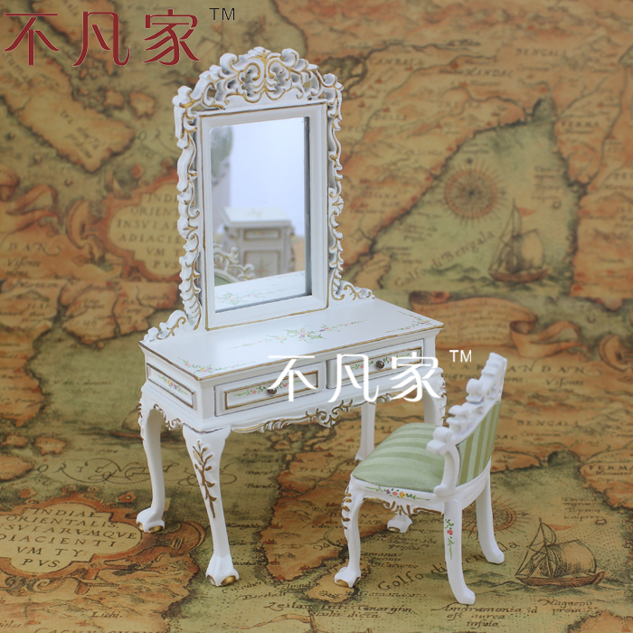 1/12 scale Doll house dollhouse furniture bedroom dressing table stool