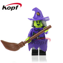 50Pcs PG1071 Horror Movie Halloween Witch Vampire Count Zombie Jeepers Creepers Building Blocks Christmas Children Gift Toys(China)