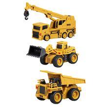 Инновационные мини пульт дистанционного управления Управление монтируемая Автомобильная Изысканная модель 4-канальный бульдозер грузовик игрушка