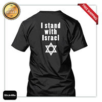 I stand with Israel T shirt high quality printing soldier T shirt magen david 100% Cotton For Man T shirt printing