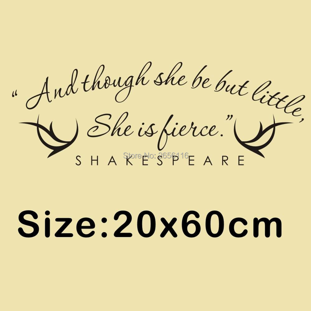 Quotes Calligraphy Famous Shakespeare Quotes Art Calligraphy Wall Stickers And Though