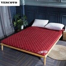 Dikke spons matras topper tatami vouwen hoge dichtheid schuim matrassen topper bed