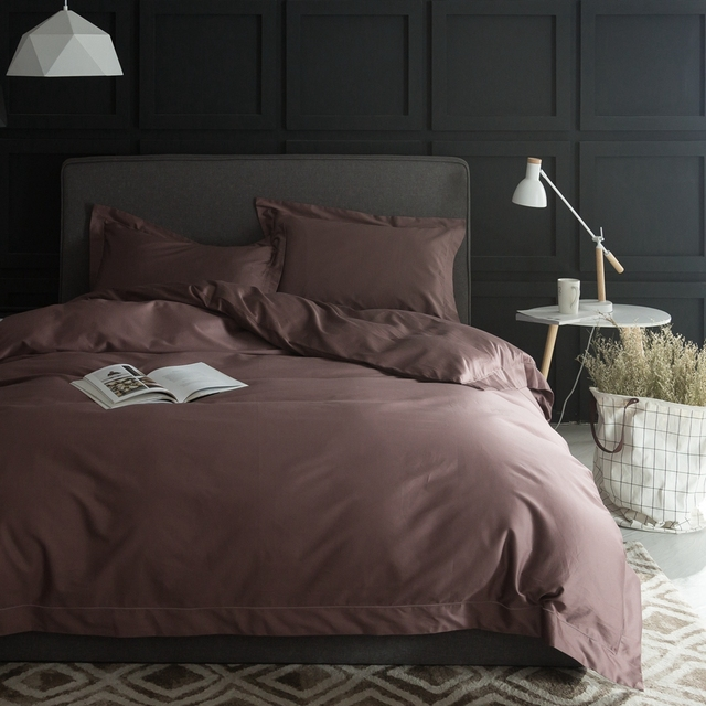 100 Pima Cotton Duvet Cover Set Queen King Size Satin Bed Sheets Pillow