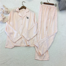Lisacmvpnel col rabattu femmes Sexy pyjama ensemble rayonne décontracté femme pyjamas Twinset femmes Homewear