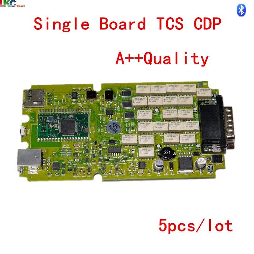 Цена за 5 шт./лот + + качество один зеленый печатной платы TCS CDP с Bluetooth 2014R2/2015R3/2015.1 новый VCI Tcs Сканер диагностический сканер