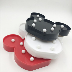 Image 2 - Leedome 3D Romantic Lamp LED Night Light Mickey Style Lamp Marquee Home Christmas AA Battery LED Nightlight For Home Decor