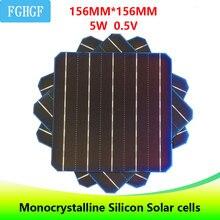 50 pcs 5BB 5 w 0.5 v 156*156mm Célula Solar de Silício Monocristalino Fotovoltaicos Mono Grau UM 6×6 Para casa DIY uso Painel Solar
