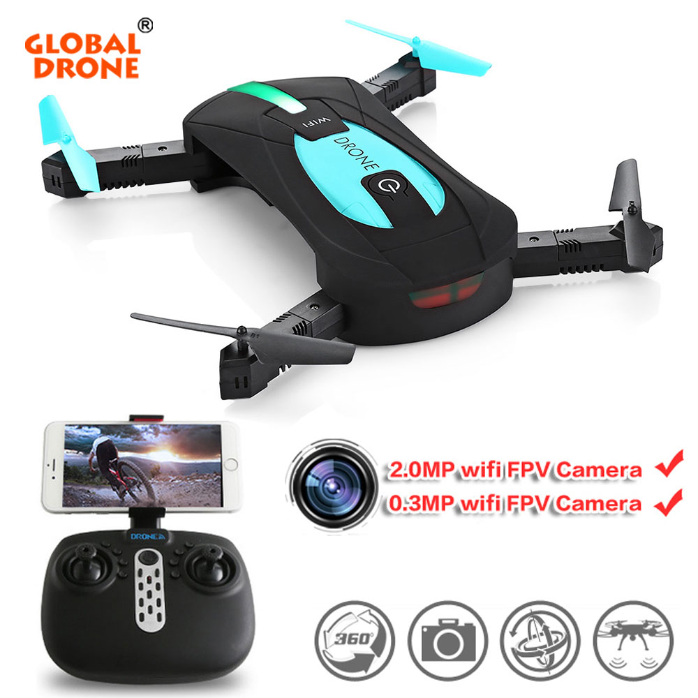Global Drone JY018 Selfie Mini Pocket Dron Folding Arms Headless Mode Quadcopter Drone With Camera HD VS Eachine E52