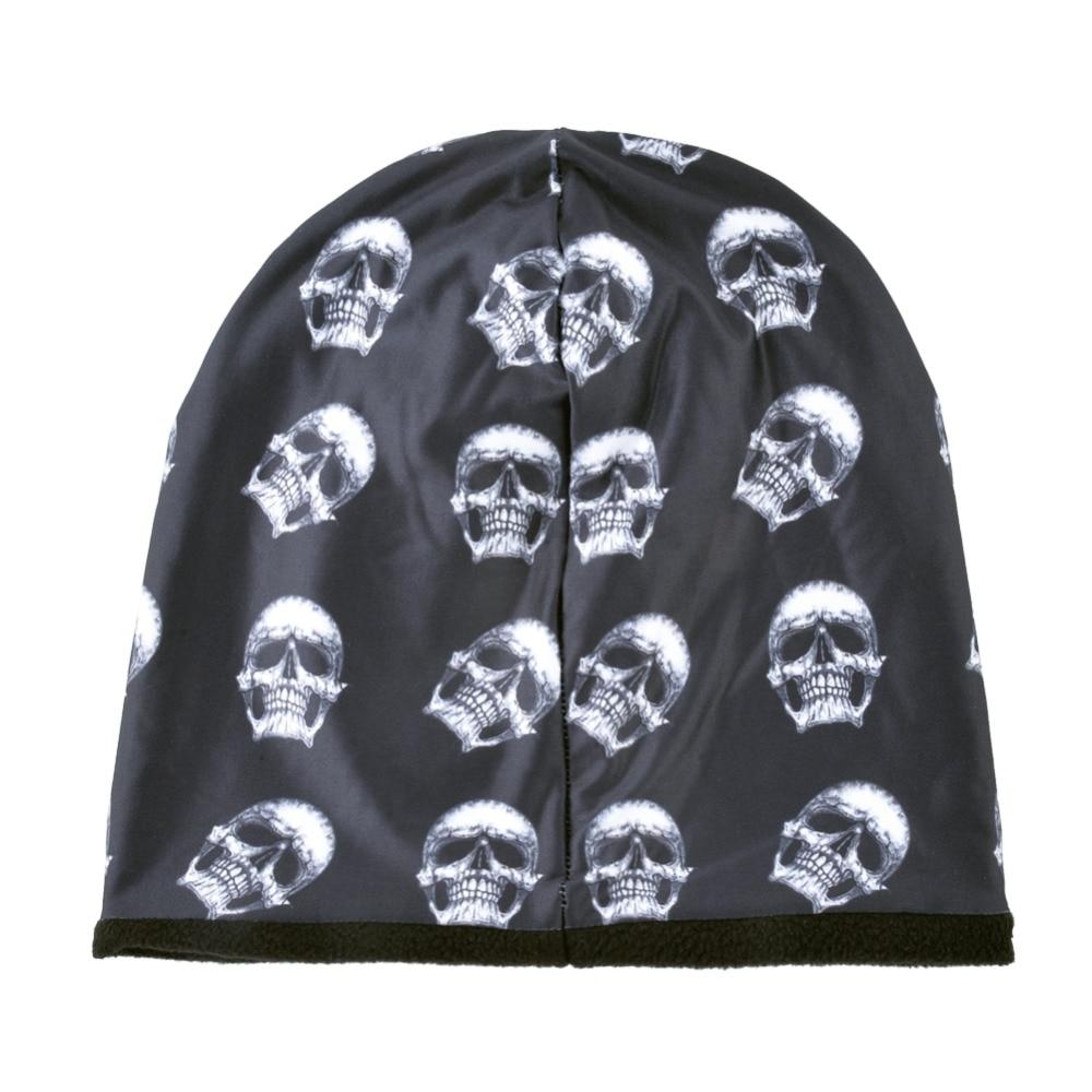 TQMSMY Fashion Skull Pattern Hats For Men Winter Warm Skullies Beanies Women Thick Ski Caps Unisex Hip Hop Punk Cool Bone Gorros 3