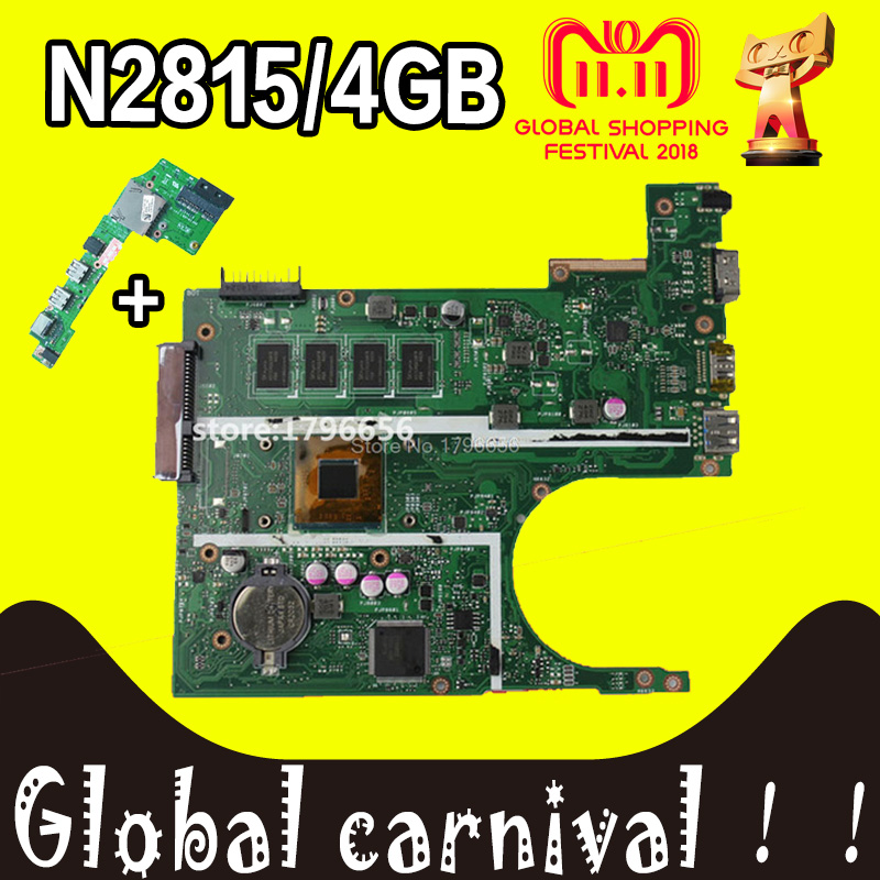 Send board+X200MA Motherboard N2815 4GB RAM For ASUS X200M F200M X200MA laptop Motherboard X200MA Mainboard X200MA Motherboard for asus motherboard f200ma f200m x200m x200ma rev2 1 mainboard with n3540u 4g memory test 100