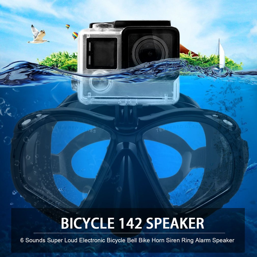 Professional Underwater Diving Mask Scuba Snorkel Swimming Goggles Scuba Diving Equipement Suitable For Most Sport Camera image