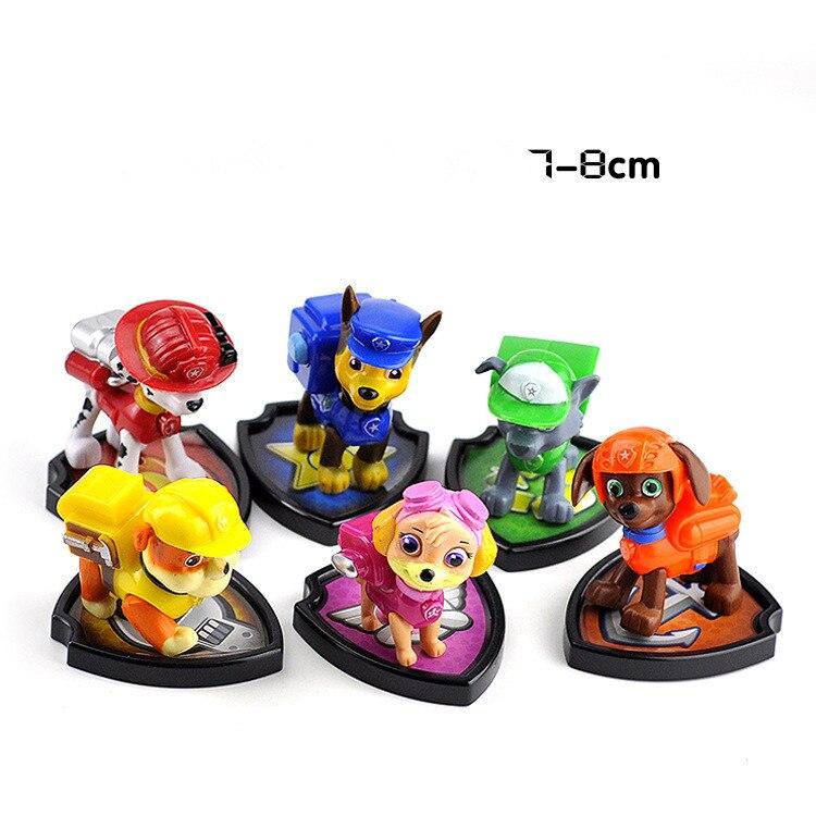 6 PCS Figurines Jouets Enfants Cadeaux Jouet Pvc Collections Pour Chien Tripoté Marshall Décombres Chasse Rocheux Zuma Skye Chiot patrouilles