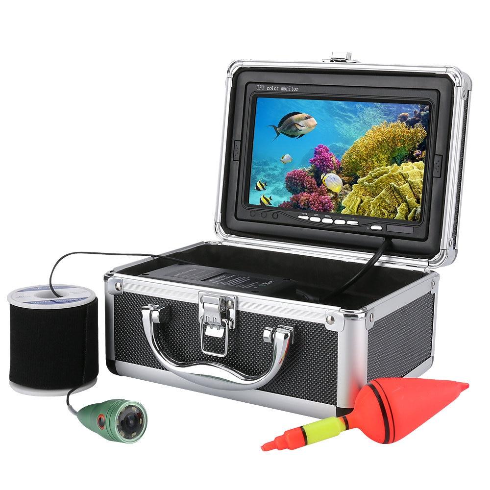 NEW 1000tvl Underwater Fishing Video Camera Kit 6 PCS LED Lights 7 Inch Color Monitor Ice Lake Under Water fish 20M/30M/50M 30m video