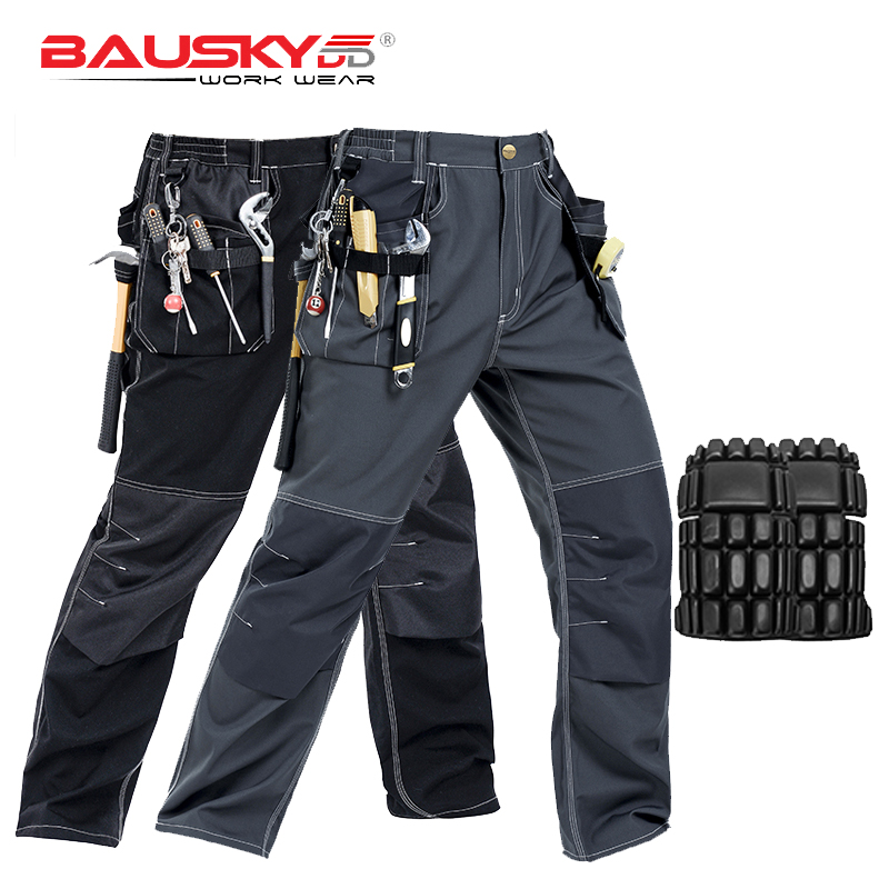 New High Quality Craftsman Men's Work Pants Workwear Multi Pockets Work Trousers Mechanic Workwear With EVA Knee Pads