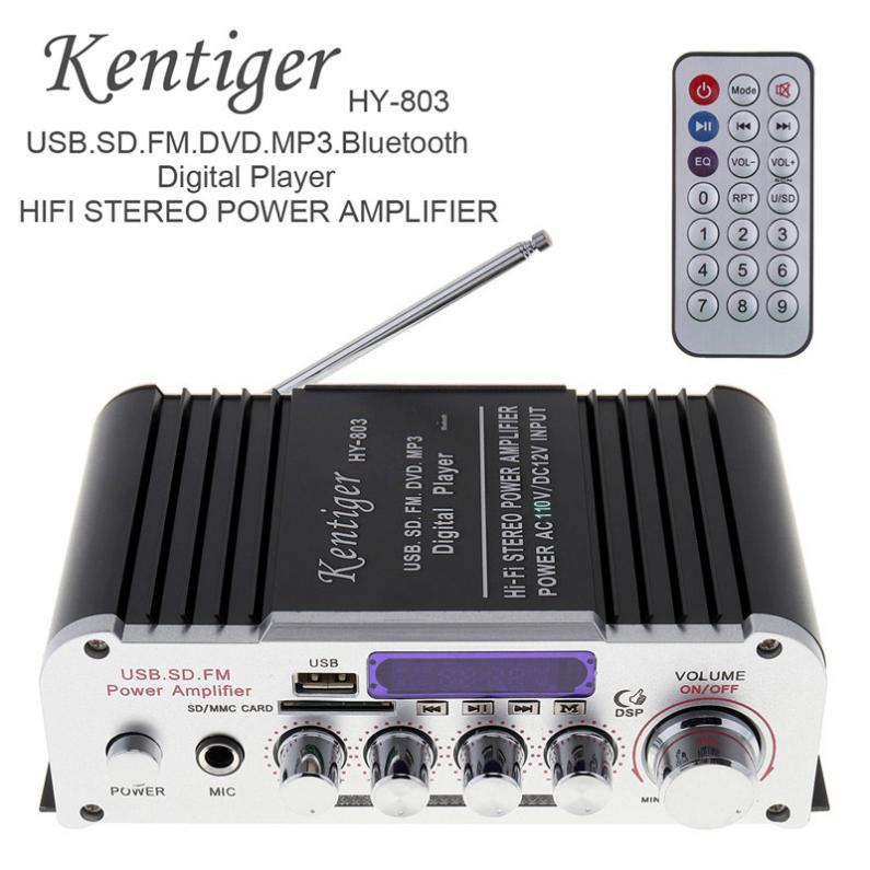 Kentiger HY-803 2CH Car HIFI Bluetooth mp3 amplifier12V amplificador Car Audio stereo Power Amplifier FM Radio Player Wholesale