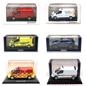 Lots of Norev 1:43 Mazda RENAULT Trafic Van Ambulance Fire truck Sports car Miniature Diecast Models Toys Collection(China)