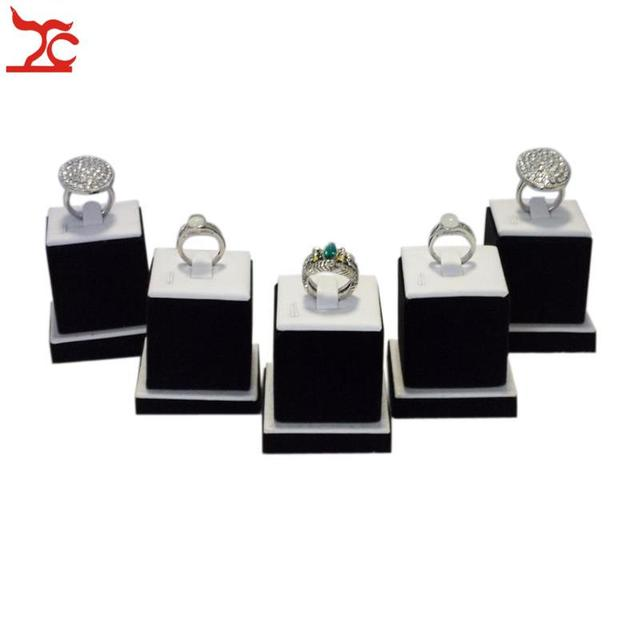 Wholesale 5 Bijoux Rings Display Stand Square Ring Holder Showed