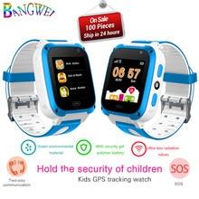 9f7d0a6bc557 BANGWEI LED Color pantalla táctil niños reloj inteligente LBS localizador de  posicionamiento niños relojes SOS seguridad