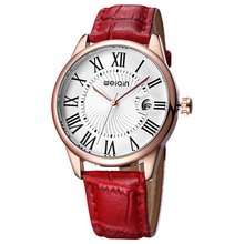 2019New Fashionable Luxury Lady Quartz Watch Leather Strap Roman Clock Multi function Lady Watch Relogio Feminino Reloj Mujer