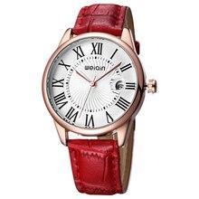 2019New المألوف الفاخرة سيدة ساعة كوارتز حزام من الجلد الروماني ساعة متعددة الوظائف سيدة ساعة Relogio Feminino Reloj Mujer