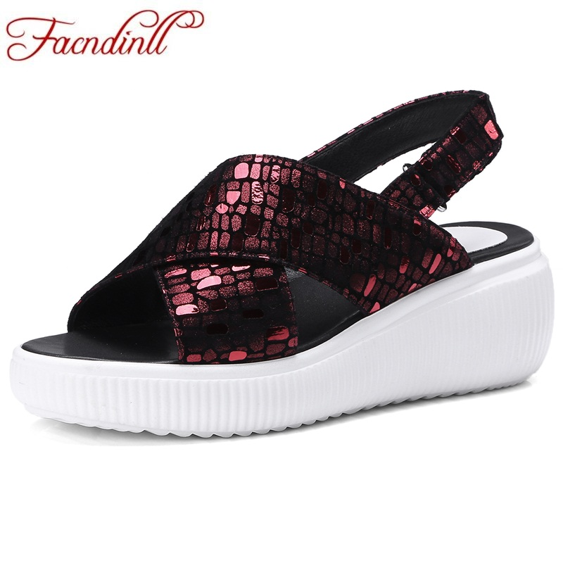 FACNDINLL fashion sandals summer shoes woman sheepskin gladiator sandals 2018 new high heel open toe ladies casual date shoes facndinll new women summer sandals 2018 ladies summer wedges high heel fashion casual leather sandals platform date party shoes