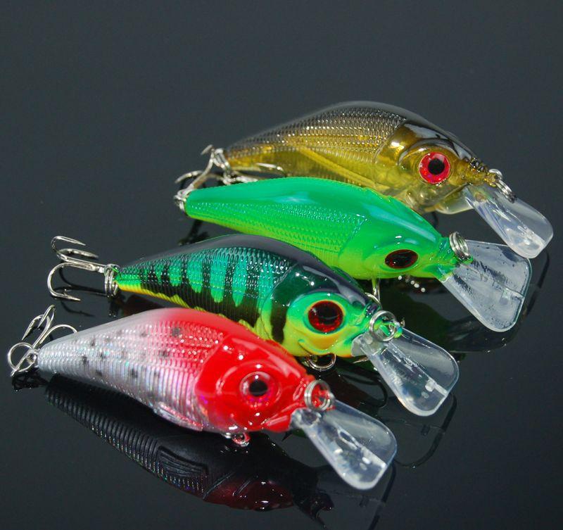 Fishing Lure Short Crank Bait 53mm 6g Artificial Hard Lures Baits Lot 4 Pieces