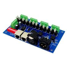 цена на 1 pcs DC12-24V 12 channel each channel Max 3A 4 groups RGB output with(XLR RJ45) dmx512 decoder Controller