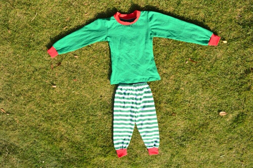Groothandel Babykleding.Rood Groen Gestreepte Baby Kerst Pajama Groothandel Babykleding
