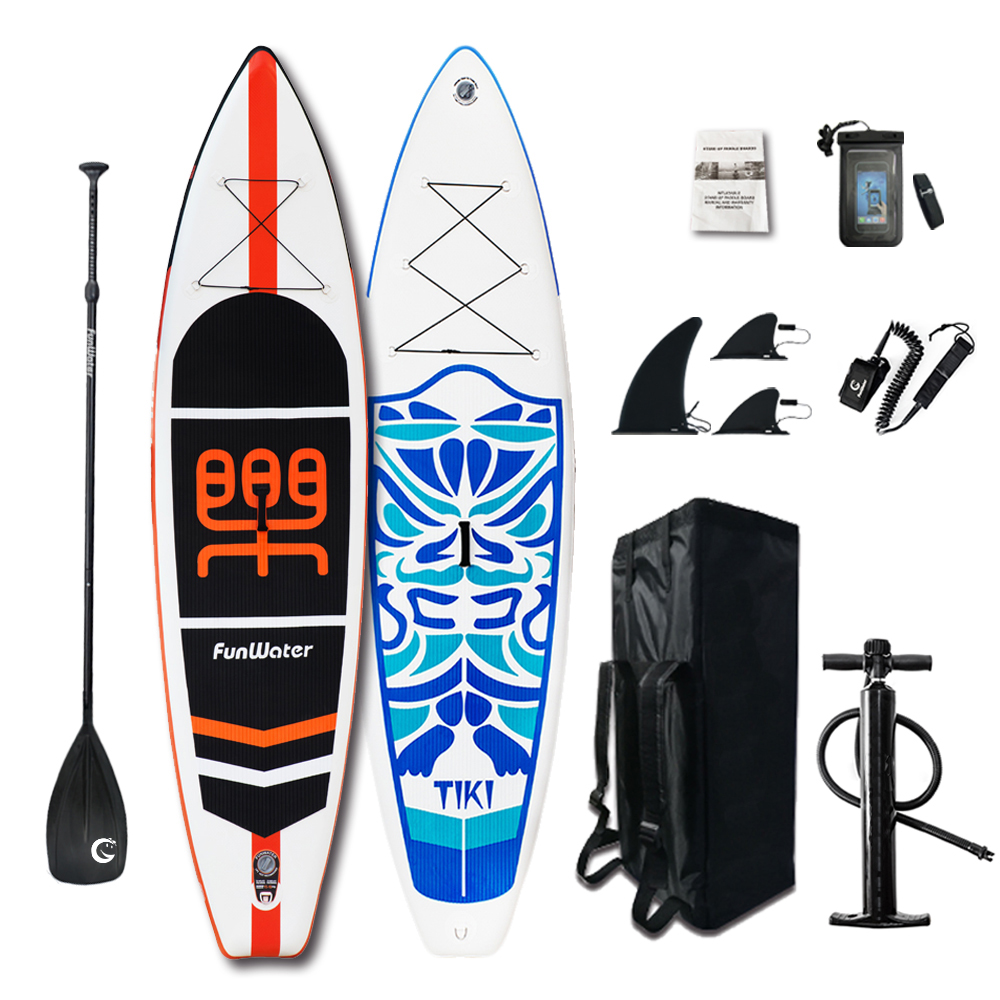 Presentes Dia dos namorados FunWater Pá Sup Paddle Board Inflável, Saco, Trela, Bomba, saco do telefone stand up paddle surf sup