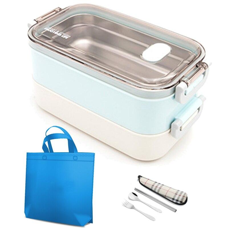 304 In Acciaio Inox Lunch Box Thermos Tenuta Giapponese Carino Bento Box Forno A Microonde Di Bambini Di Scuola Picnic Contenitore Per Alimenti Set Portatile