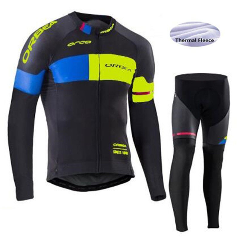 2017 Hot Cycling Jersey Men's Long Sleeve Winter Fleece Thermal Bicycle Cycling Clothing Set Bike Wear Outdoor Ropa Ciclismo black thermal fleece cycling clothing winter fleece long adequate quality cycling jersey bicycle clothing cc5081