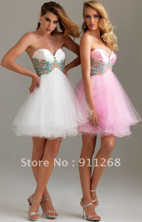 1be7a56371e Soft and airy layered tulle matching jewelry beaded a-line mini homecoming cocktail  dresses empire waist short formal gown