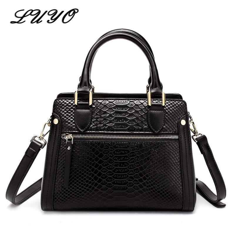 2018 Serpentine Genuine Leather Bag For Woman Luxury Handbags Women Bags Designer Bolso Mujer Crocodile Shoulder Bag Lady Female