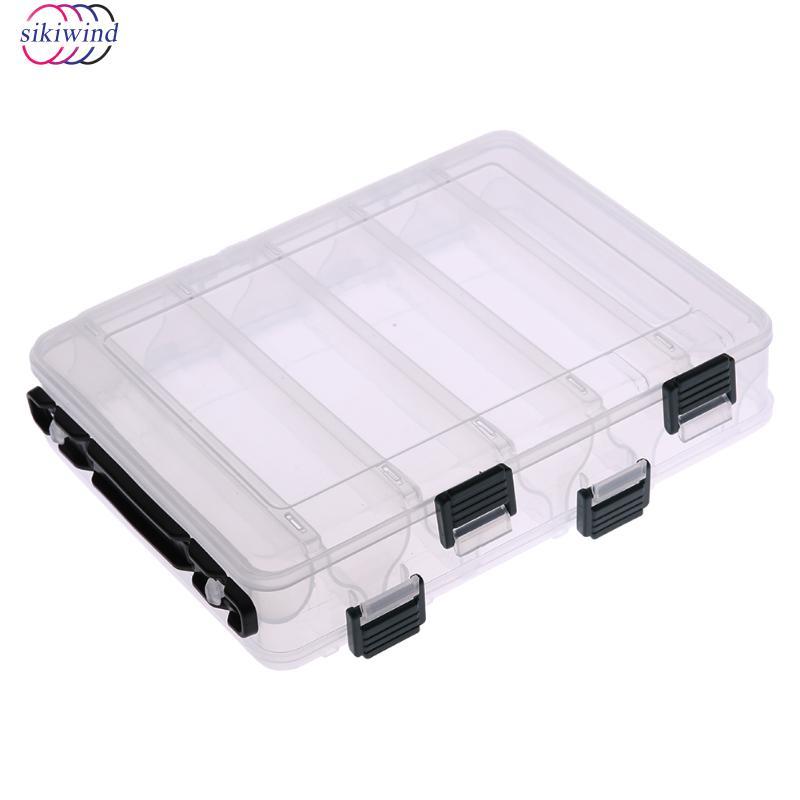 Angeln Box Seitige Zehn Fach Transparent Box Holz Garnelen Angeln Köder Box Kunststoff Angeln Locken Werkzeug Tackle Boxen