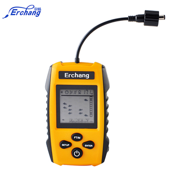 Erchang Brand Fish Finder Alarm 100M Portable Sonar LCD Fishing Lure Bait Echo Sounder Carp Fishing Finder Fish Size Showing toys for 2 month old