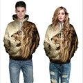 Outono 3D Leão Animal Print Pullovers Amantes E Casais Ws91096 Puxar Homme Moletom Com Capuz Masculino Com Capuz