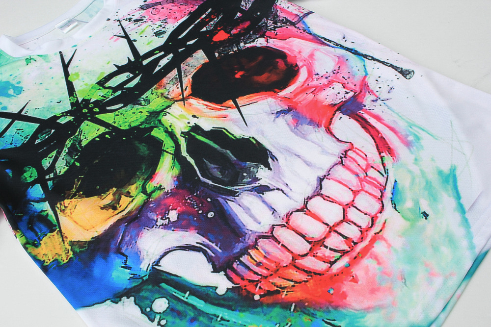 T-shirt Hip Hop 3d Print Skulls Animation 3d T shirt Summer Cool Tees Tops 5