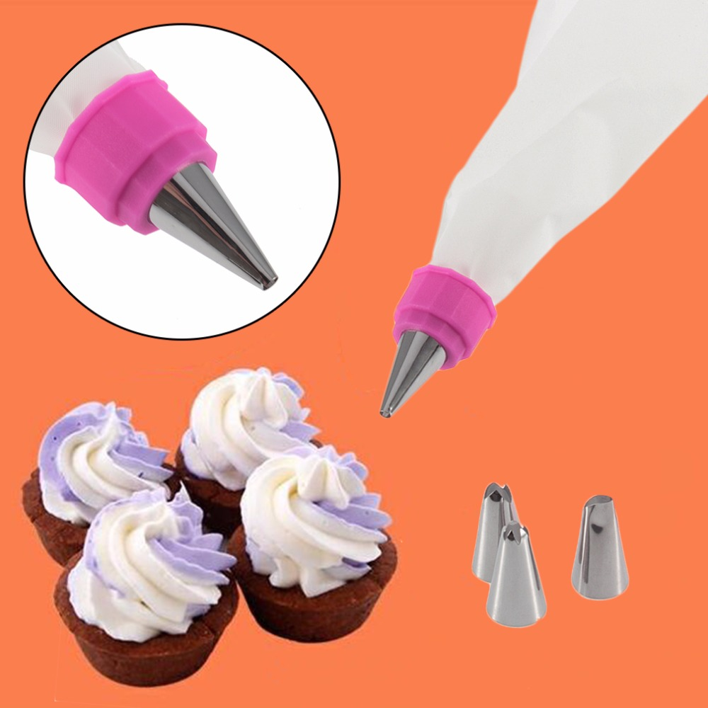 Radiant Preup Househ Cake Decorating Kit Set Bag Master Cupcake Making Bakingtools Stainless Steel Diy Icing Piping Nozzles Tips On Preup Househ Cake Decorating Kit Set Bag Master Cupcake Making curbed Cake Decorating Kit