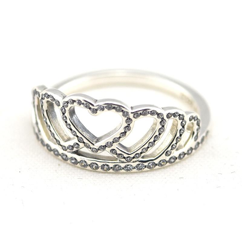 anillos pandora en forma de corona