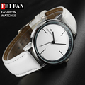 FEIFAN Brand Women Casual Quartz-watches Leather Strap Simple Wristwatches Fashion Ladies Watches
